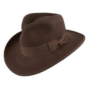 Sombrero Fedora Indiana Jones con insignia indiana jones
